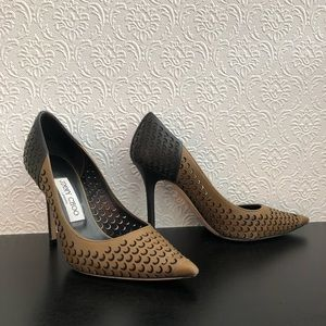 Jimmy Choo Abel Perforated Leather Pump (36)